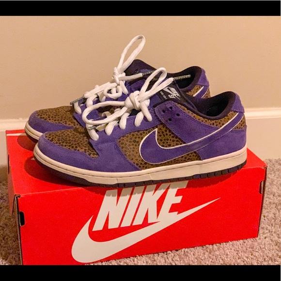 buy popular 00dca fc722 Nike Shoes | Dunk Sb Low Purple Safari | Poshmark
